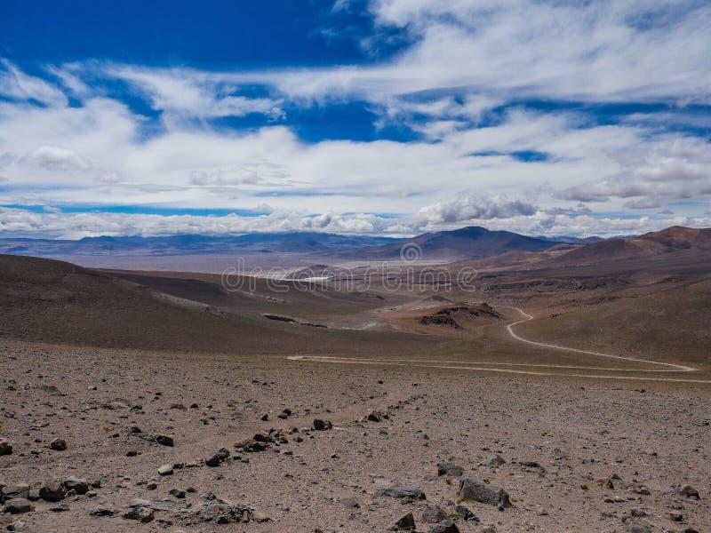 Opinião de deserto de atacama do Chile no atlas foto de stock royalty free