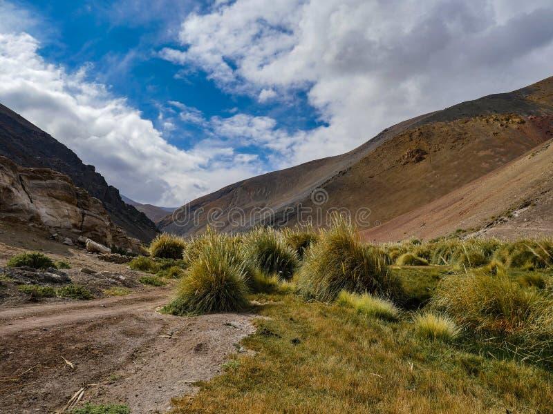Opinião de deserto do Chile Atacama nas montanhas imagem de stock
