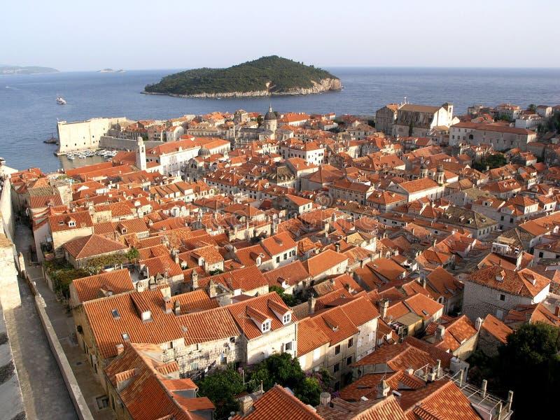 Opinião de Dubrovnik foto de stock