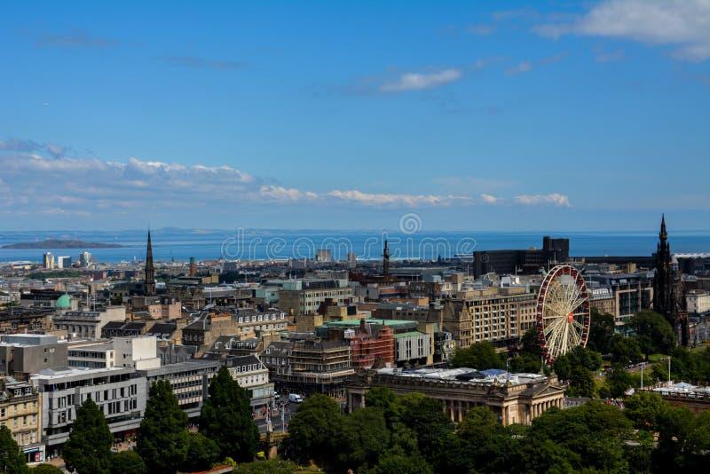 Opinião de Edimburgo imagens de stock