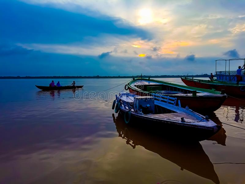 Opinião de energização do nascer do sol da Índia fotografia de stock
