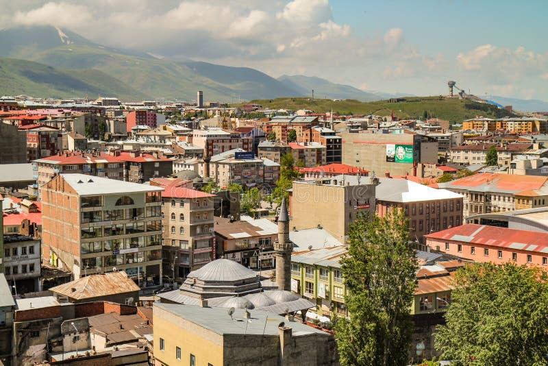 Opinião de Erzurum imagem de stock royalty free