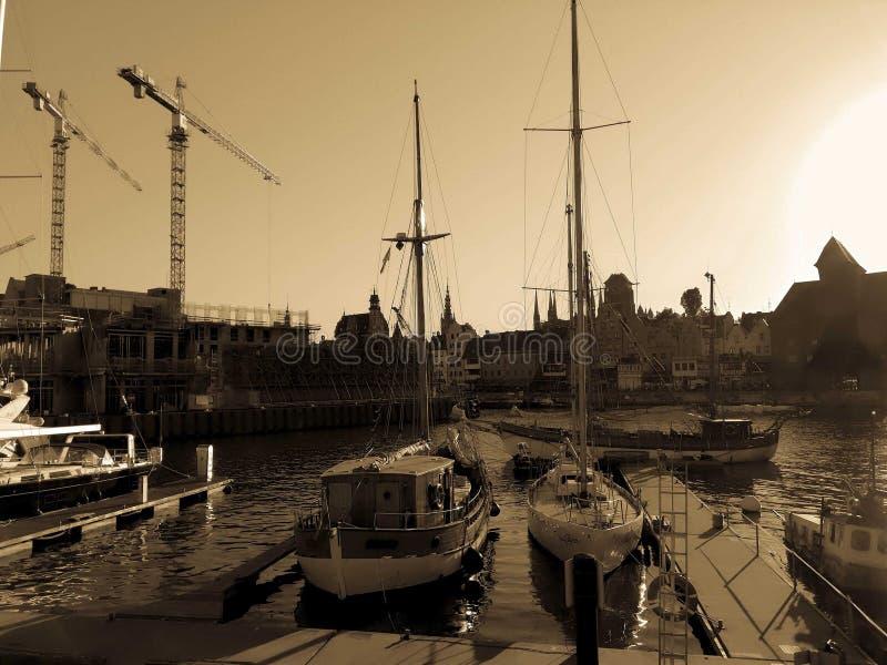 Opinião de Gdansk do porto imagens de stock