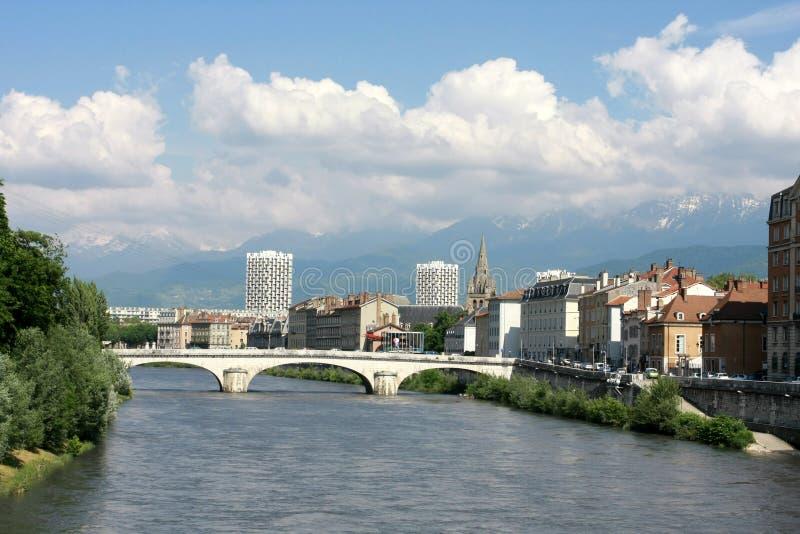 Opinião de Generval em Grenoble imagem de stock