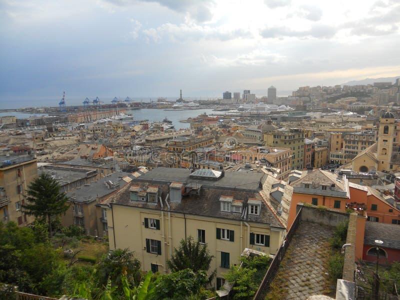 Opinião de Genoa foto de stock royalty free