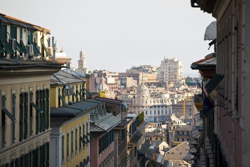 Opinião de Genoa imagem de stock