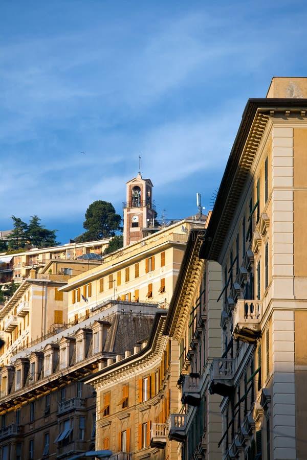 Opinião de Genoa imagens de stock royalty free