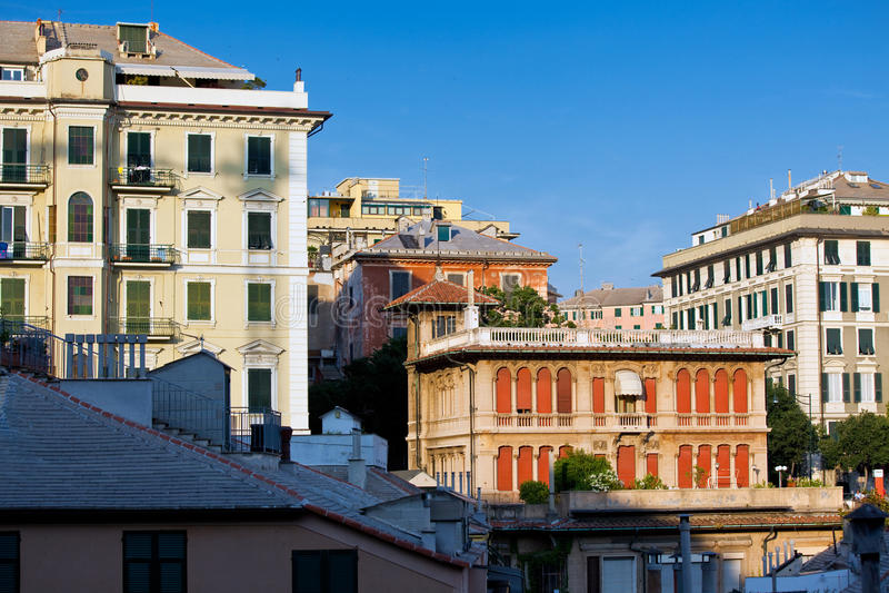 Opinião de Genoa imagem de stock royalty free