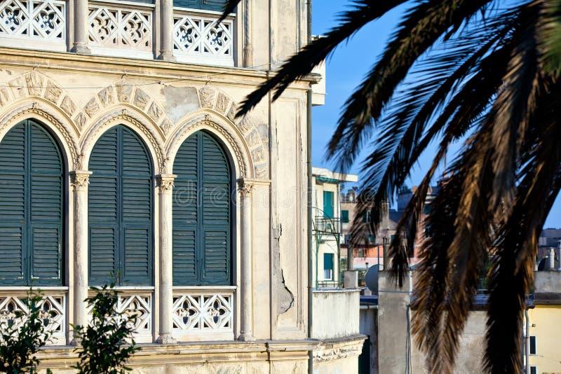 Opinião de Genoa foto de stock
