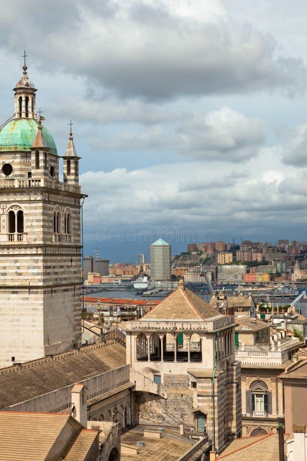 Opinião de Genoa, Italy fotos de stock