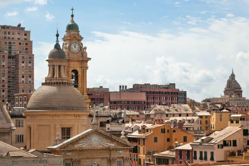 Opinião de Genoa, Italy foto de stock royalty free