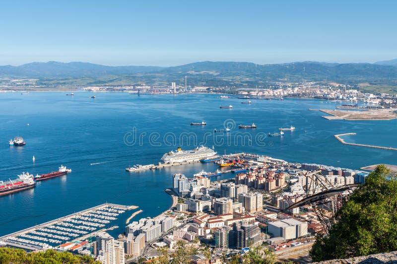 Opinião de Gibraltar imagem de stock