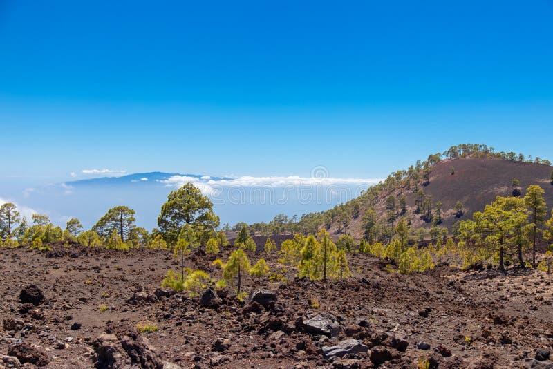 Opinião de Gomera do La de Tenerife imagem de stock royalty free