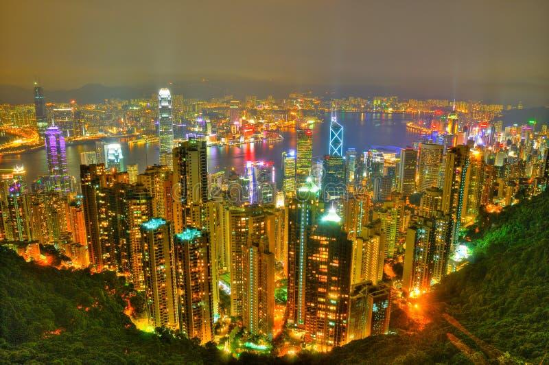 Opinião de Hong Kong do pico imagem de stock