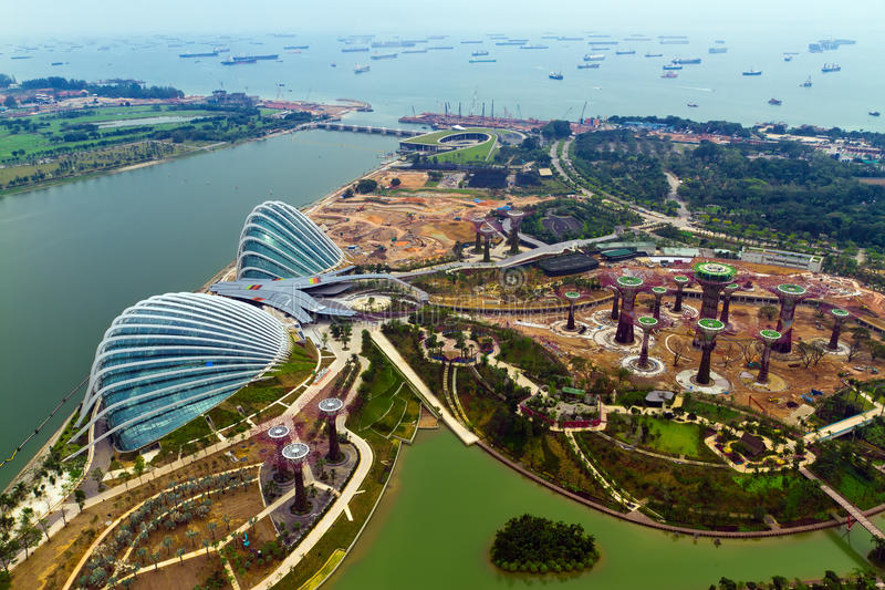 Opinião de Hongbao do rio, Singapore foto de stock royalty free
