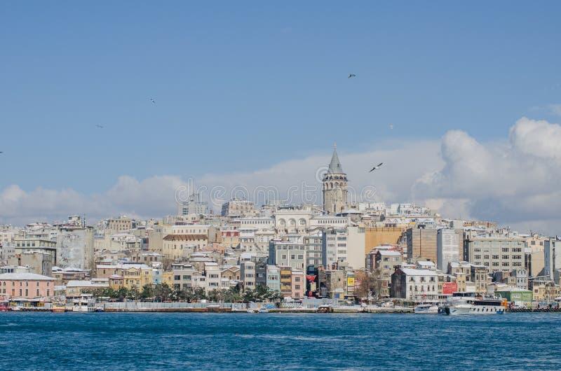 Opinião de Istambul fotografia de stock royalty free