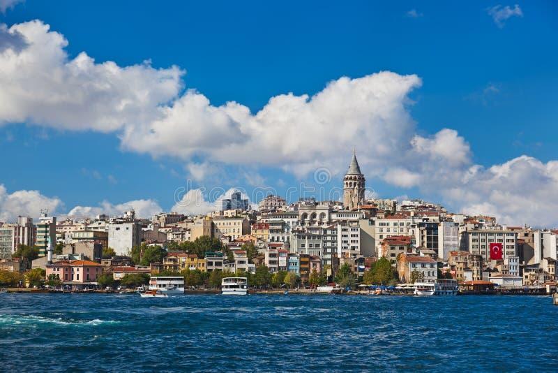 Opinião de Istambul Turquia foto de stock royalty free