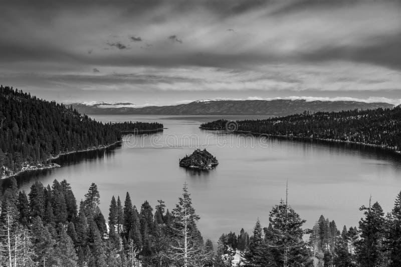 Opinião de Lake Tahoe Emerald Bay foto de stock