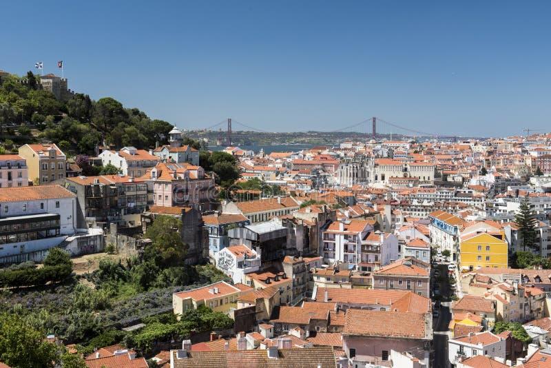 Opinião de Lisboa da cidade imagens de stock royalty free