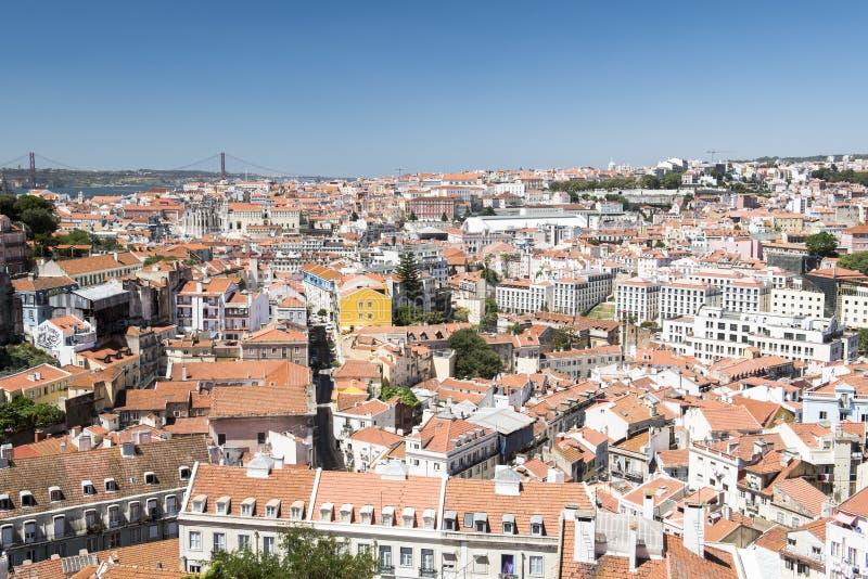 Opinião de Lisboa da cidade foto de stock royalty free