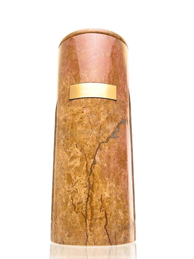Opinião de mármore do urn 3D do funeral imagem de stock royalty free