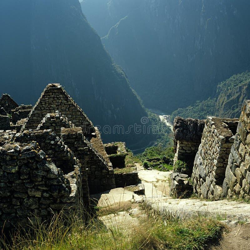 Opinião de Machu Picchu Urubamba fotos de stock
