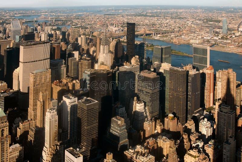 Opinião de Manhattan foto de stock