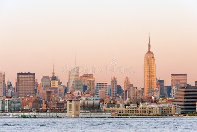 Opinião de Manhattan fotografia de stock