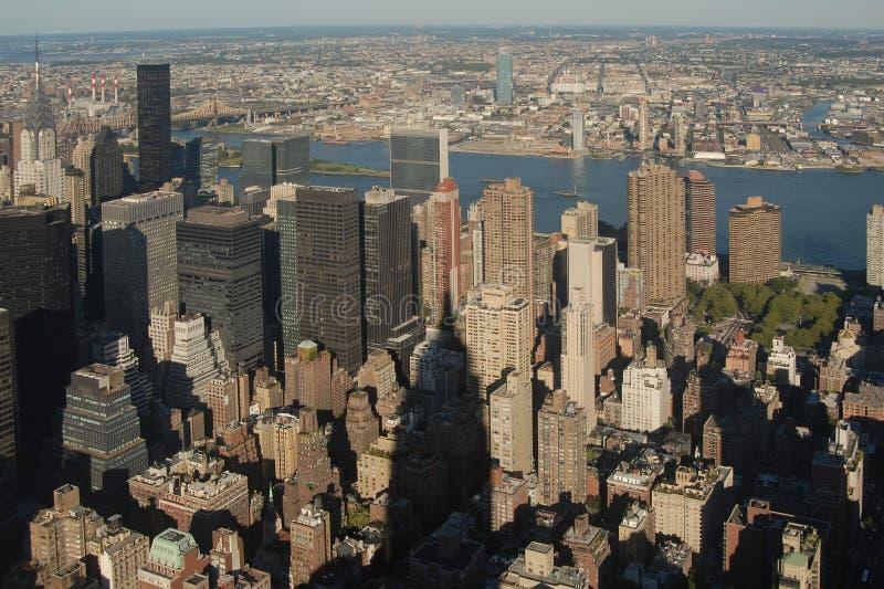 Opinião de Manhattan do Midtown fotos de stock