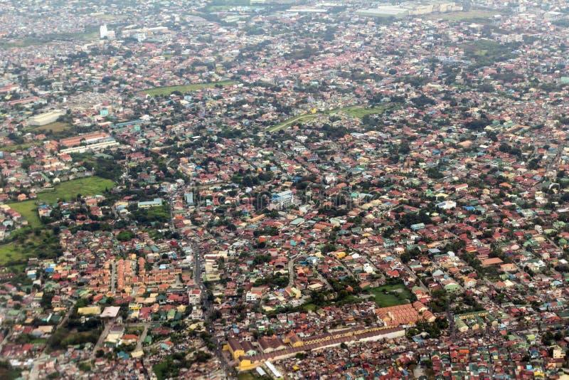 Opinião de Manila do avião imagens de stock royalty free