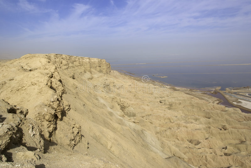 Opinião de mar inoperante de Mt. Sodom imagens de stock royalty free