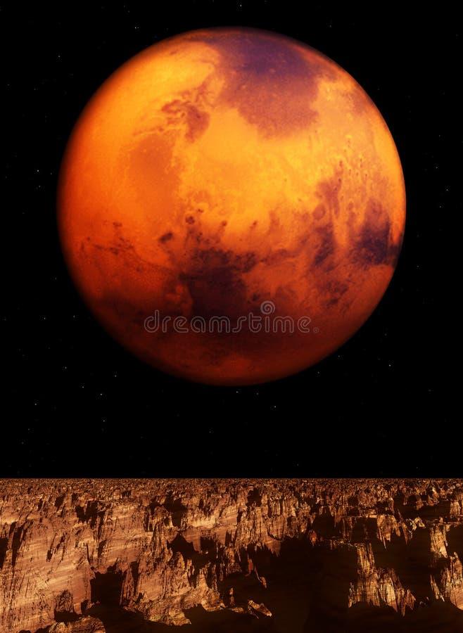 Opinião de Marte ilustração do vetor