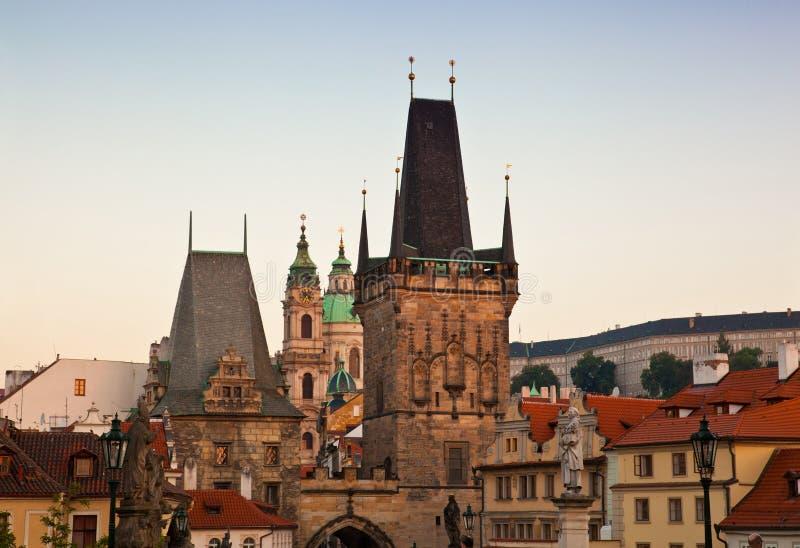 Opinião de Mesto do olhar fixo (cidade velha), Praga fotografia de stock royalty free