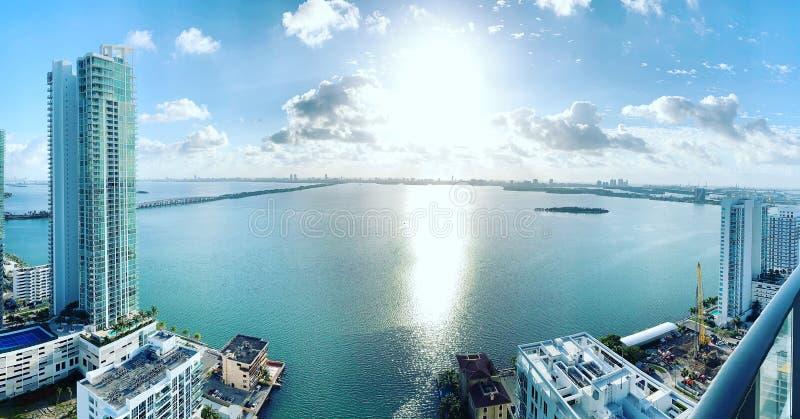 Opinião 2019 de Miami fotos de stock