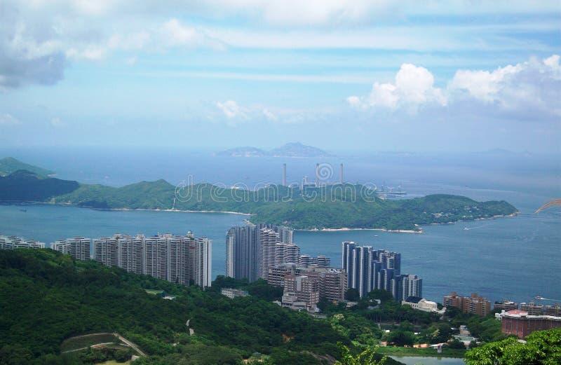 Opinião de negligência Hong Kong fotografia de stock