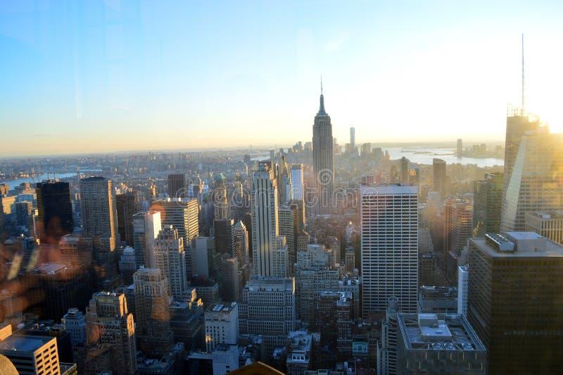 Opinião de New York City imagens de stock royalty free