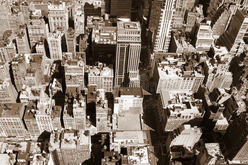 Opinião de New York de acima foto de stock