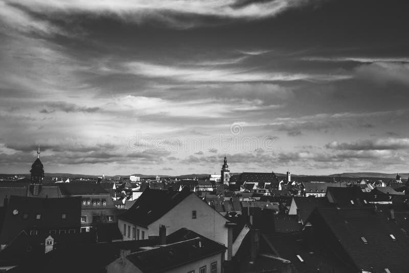 Opinião de Nuremberg, uma cidade da cidade em Franconia no estado alemão de Baviera foto de stock