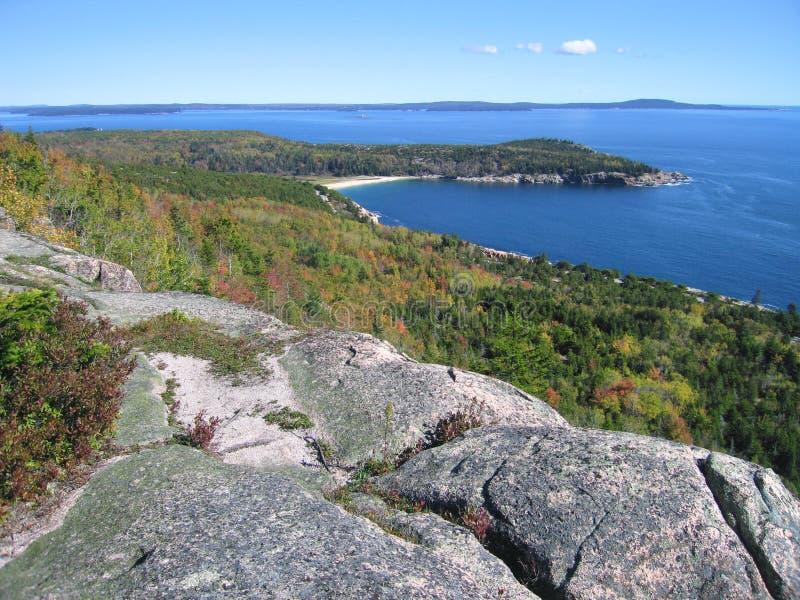 Opinião de oceano do Acadia fotografia de stock