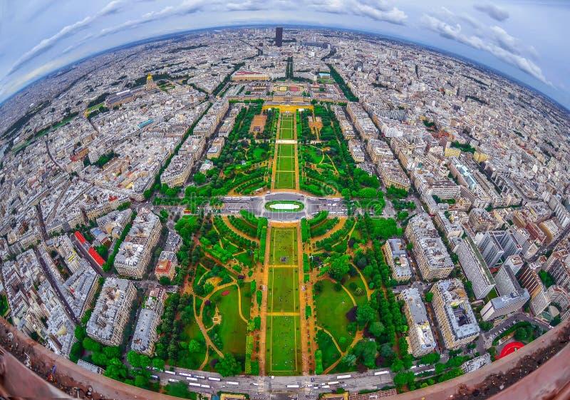 Opinião de olho de pássaro da cidade de Paris, França imagem de stock