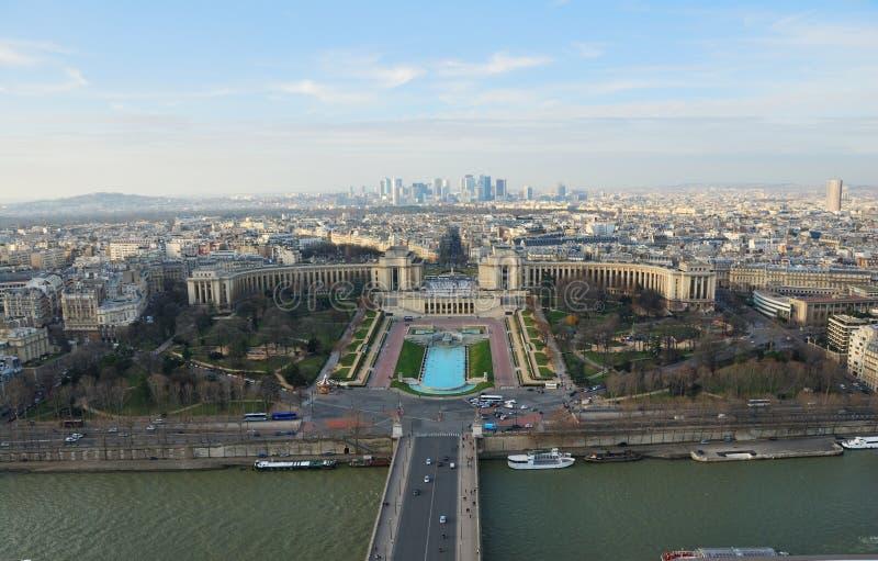 Opinião de olho de pássaro de Paris fotografia de stock