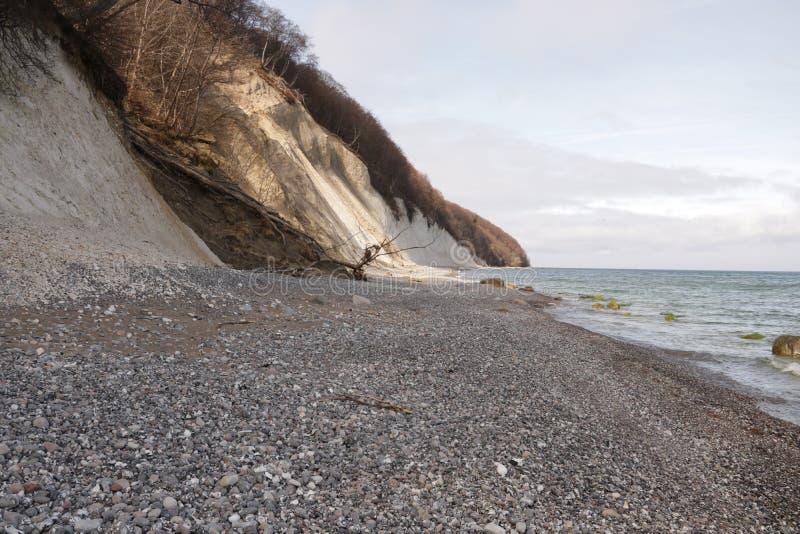Opinião de Ostsee de Königstà de Nationalpark Rà do ¼ em hl do gen do ¼ imagem de stock royalty free