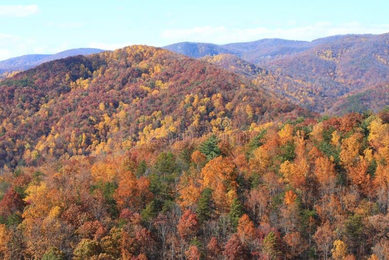 Opinião de pedra da queda do parque estadual da montanha fotos de stock royalty free