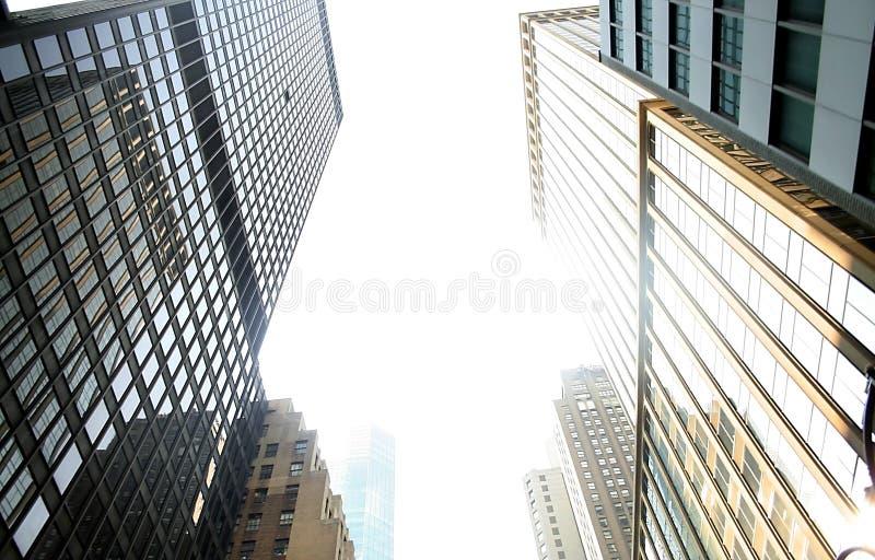 Opinião de perspectiva dos edifícios imagens de stock royalty free