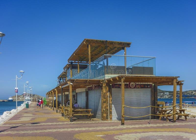 Opinião de perspectiva Santa Marta Boardwalk foto de stock royalty free
