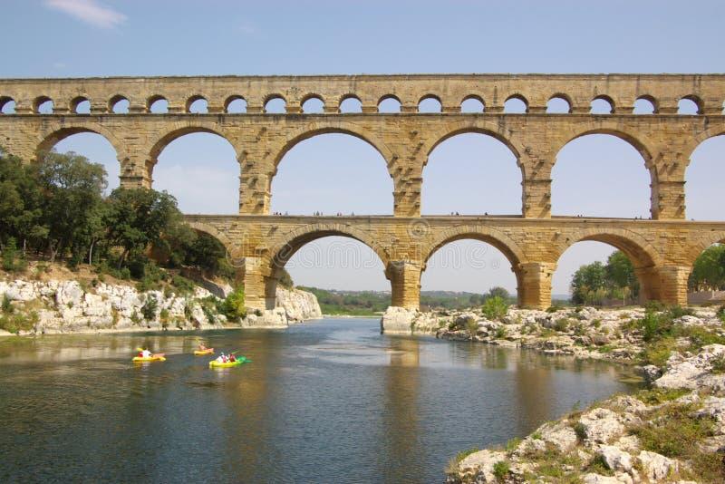 Opinião de Pont du gard fotografia de stock royalty free