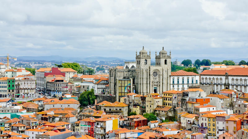 Opinião de Porto imagens de stock