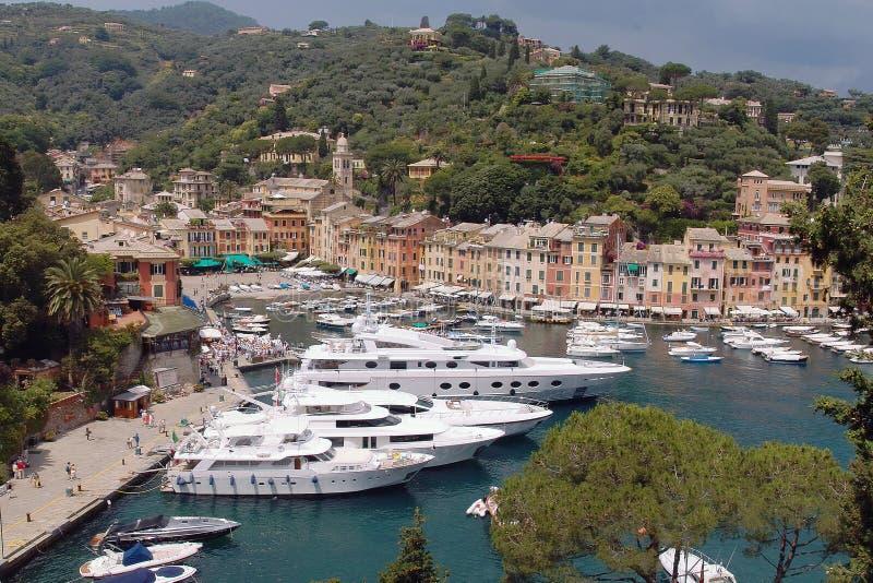 Opinião de Portofino fotografia de stock royalty free
