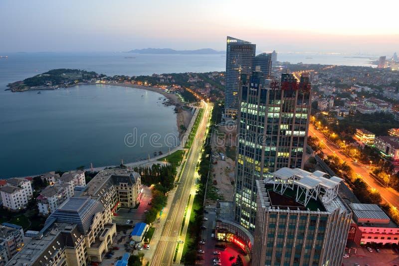 Opinião de Qingdao imagens de stock royalty free