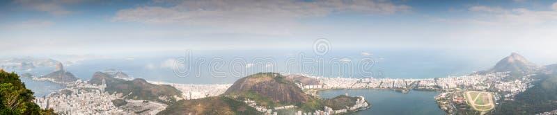 Opinião de Rio de janeiro Panorama fotografia de stock